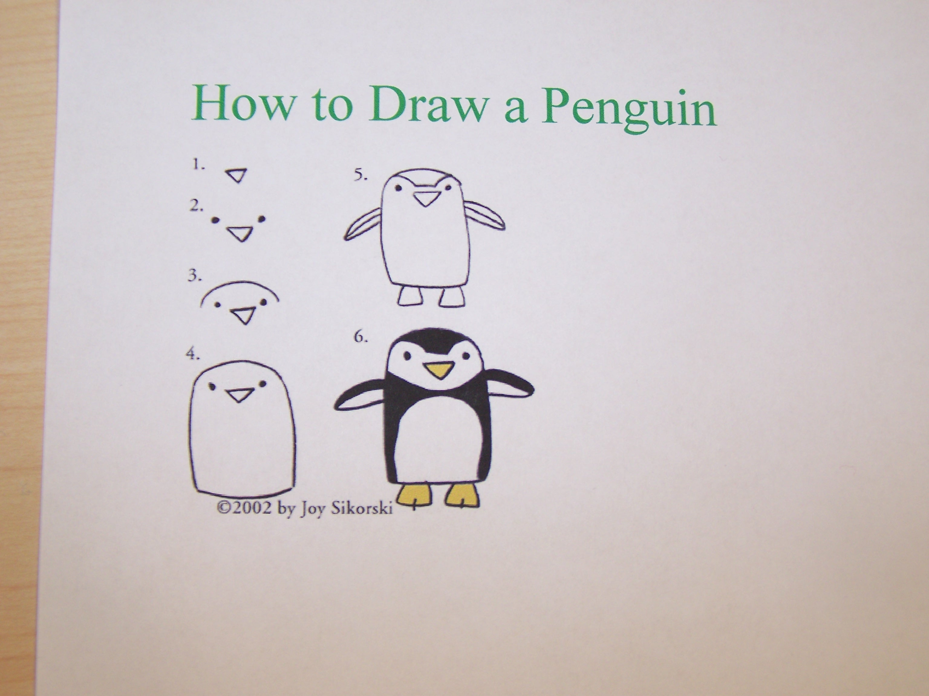 how to draw a penguin swimming