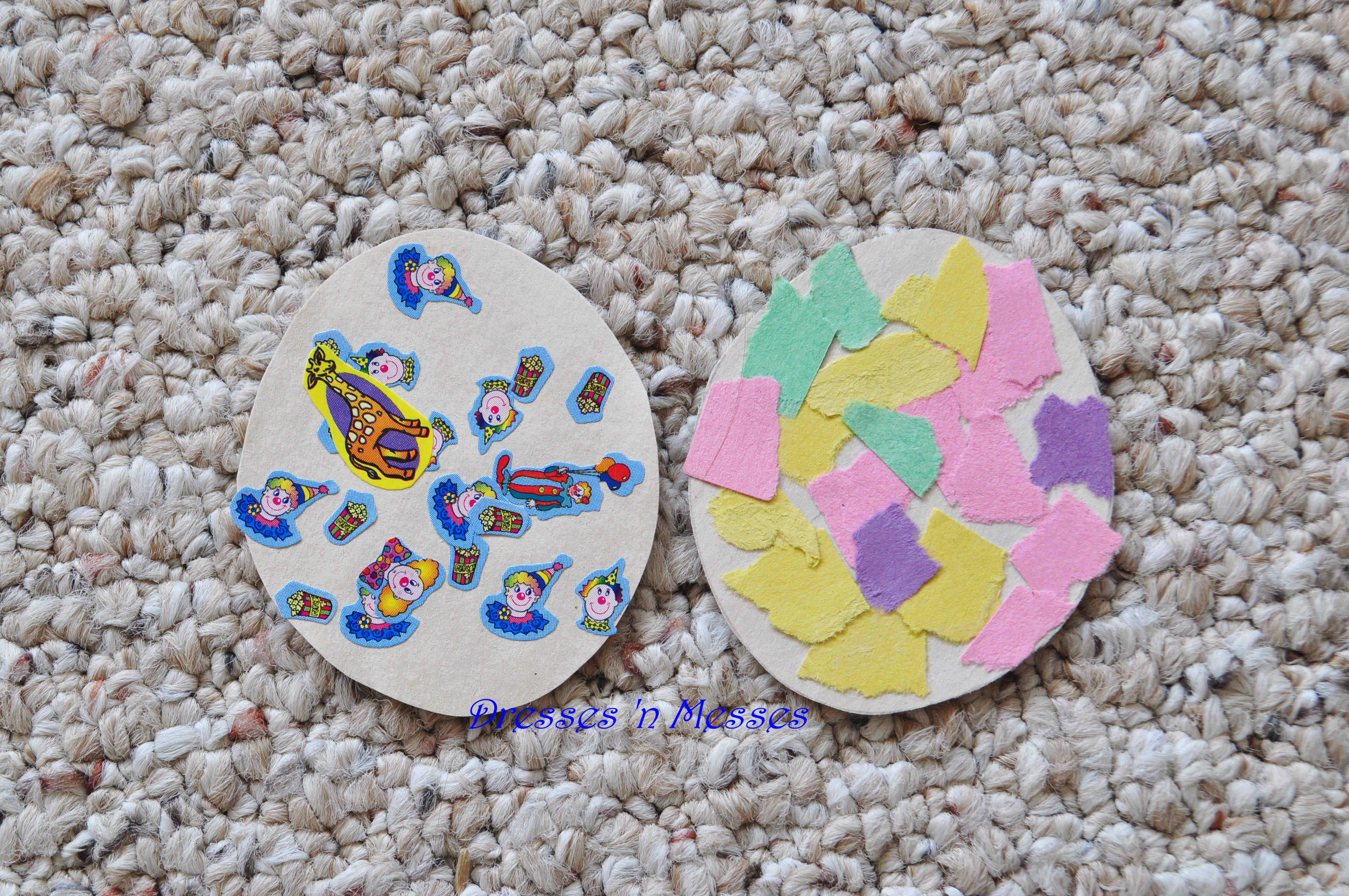 Tear fall colored construction paper into small pieces and glue - Cut A Piece Of Construction Paper Into A Small Egg Shape Give Your Child Colored Scrap Paper And Teach Them How To Tear It Into Small Pieces Then Glue